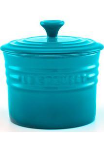 Porta Condimento Pequeno Azul Caribe Le Creuset
