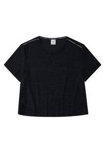 T-Shirt Malwee Manga Curta Em Viscolycra Cinza