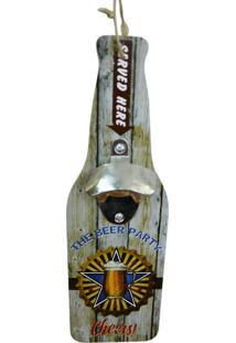 Abridor De Garrafa De Madeira Beer Party Kasa Ideia