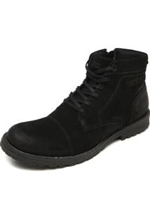 Bota West Coast Recortes Preto