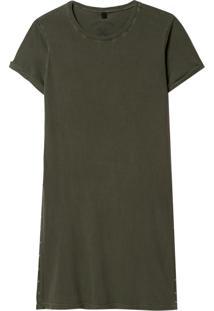 Camiseta John John Sam Malha Algodão Verde Feminina (Verde Medio, M)