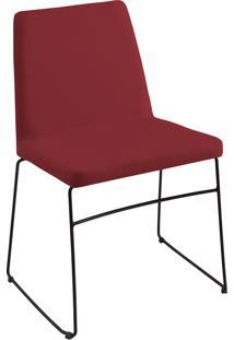 Cadeira Paris Aço T1076 Linho Marsala Daf Vinho