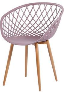 Cadeira Monaco Polipropileno Cor Camurca Com Base Aco - 61202 - Sun House