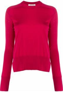 Boon The Shop Suéter Decote Arredondado De Tricô - Rosa