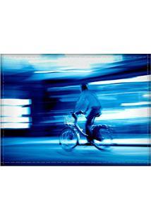 Jogo Americano Decorativo, Criativo E Descolado | Ciclista Em Paris, Na França - Tamanho 30 X 40 Cm