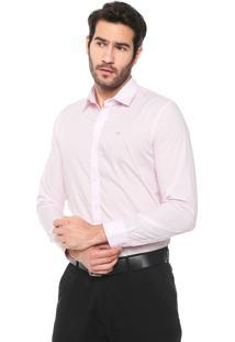 Camisa Colombo Reta Logo Rosa