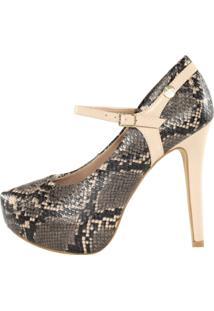 Scarpin Meia Pata Week Shoes Animal Print - Kanui