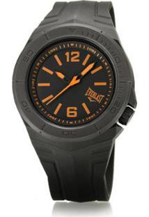 df46258302c ... Relógio Pulso Everlast Masculino Pulseira Silicone Analógico -  Masculino-Preto+Laranja