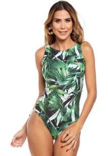 Body Maré Brasil Estampado Feminino - Feminino-Verde