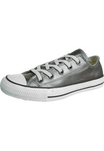 Tênis Converse Ct As Specialty Leather Ox Aco Cinza