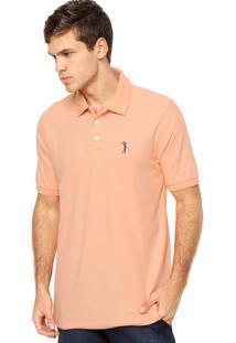 Camisa Polo Manga Curta Aleatory Bordado Coral