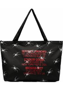 Services Unknown X Browns East Bolsa Tote De Aranha X Browns East - Preto