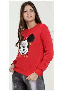 Blusão Feminino Moletom Estampa Mickey Disney