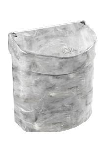 Lixeira Para Pia Glass 20,3 X 14,6 X 21,3 Cm 2,7 L Mármore Branco Coza