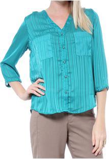 Camisa Energia Fashion Listrada Verde