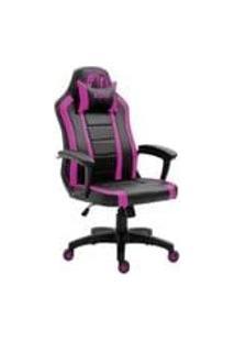 Cadeira Gamer Advanced Snake Viper Reclinavel Giratoria Preta E Rosa 440