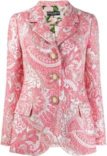 Dolce & Gabbana Blazer De Jacquard - Rosa