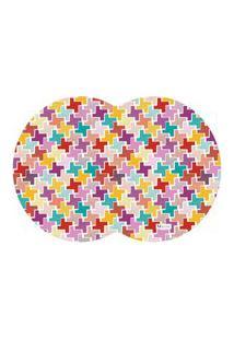 Tapete Pet Mdecore Geométrico Abstrato Colorido 54X39Cm
