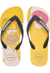 Sandália Havaianas Simpsons Amarela/Preta