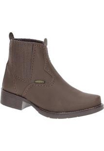 Bota Couro Urbana Boots Feminina - Feminino-Café