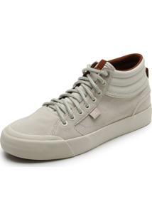 Tênis Couro Dc Shoes Evan Hi Le Imp Off White
