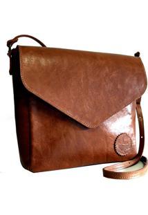 Bolsa Line Store Leather Margot Couro Whisky Rãºstico. - Marrom - Feminino - Dafiti