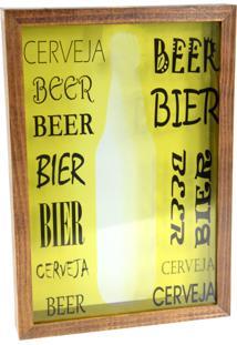 Quadro Prolab Gift Porta Tampas E/Ou Lacres Beer Tabaco - Amarelo/Branco/Marrom/Preto - Dafiti