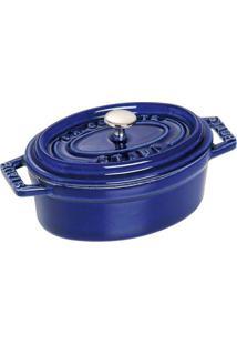 Mini Caçarola Oval Ferro Fundido 11 Cm Azul Marinho Staub