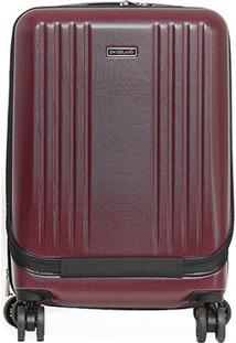 Mala Yins Brasil Bordo 20 Abs Compartimento Note - Masculino-Vermelho