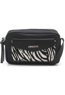 Bolsa Anacapri Zebra Preta