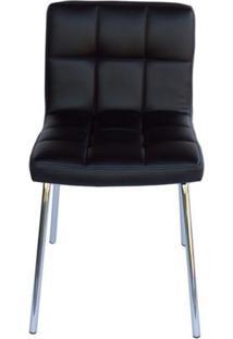 Kit Com 2 Cadeiras Creta Fixa Com Pés Palito Cromado