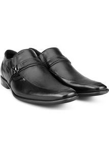 Sapato Social Couro Ferracini Sidney - Masculino-Preto