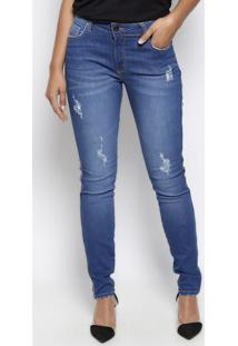 Jeans Marisa Skinny Com PuãDos- Azul- Forumforum