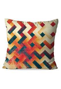Capa De Almofada Love Decor Abstrato Multicolorido Bege