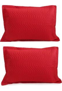 Kit Porta Travesseiro 2 Peças Matelassê 80X60 - Appel - Vermelho