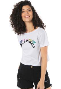 Camiseta Cropped Billabong Split Arc Branca