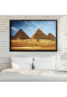Quadro Love Decor Com Moldura Pirâmides De Gizé Preto Grande