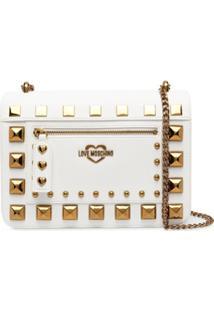 Love Moschino Studded Cross-Body Bag - Branco