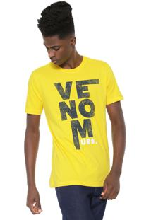 Camiseta Venom Lettering Amarela