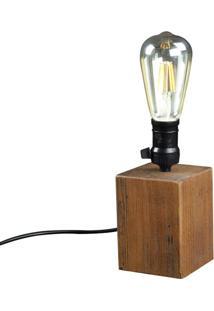 Luminaria De Mesa Lamp Em Madeira Cor Rustic Brown 18 Cm (Alt) - 50870 Sun House