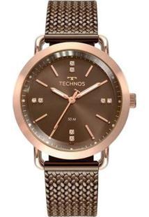 Relógio Technos Fashion Style 2036Mmd/4M Feminino - Feminino-Marrom