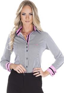 7e4fe40e9 Loja Principessa. Camisa Listrada Social Feminina ...