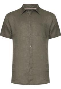 Camisa Masculina Classic Linen - Verde