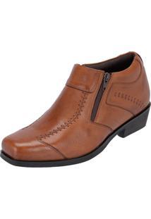 Sapato Social Escrete Urban Ziper Marrom