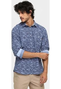 Camisa Triton Slim Fit Waves Detalhes Internos - Masculino
