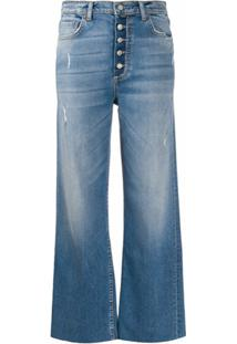 Boyish Denim Calça Jeans Cropped Cintura Alta - Azul