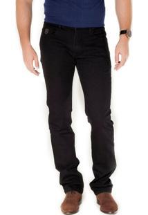 Calça Básica Jeans Preta Via Tolentino - Masculino