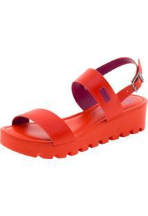 Sandália Feminina Flatform Vermelha Dijean - 471125