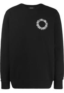 Diesel Suéter Com Estampa De Logo - Preto