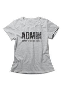 Camiseta Feminina Admin Cinza